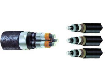 Übergangsmuffen für Bleimantel auf 3x1-Leiter Kunststoffkabel, 3-Leiter 12/20 kV