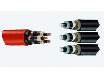 Aufteilungsmuffen von Kunststoffkabel auf 3 x 1 Leiter Kunststoffkabel, 3-Leiter 6/10 kV