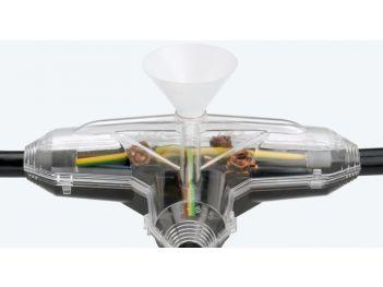 T-Abzweigmuffen mit Gießharz Typ GA für Kunststoffkabel