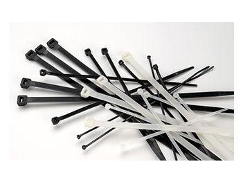 Kabelbinder natur/ transparent; Kabelbinder schwarz, UV-stabilisiert